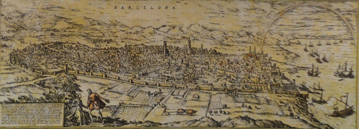 Barcelona i el port vistos de Montjuïc