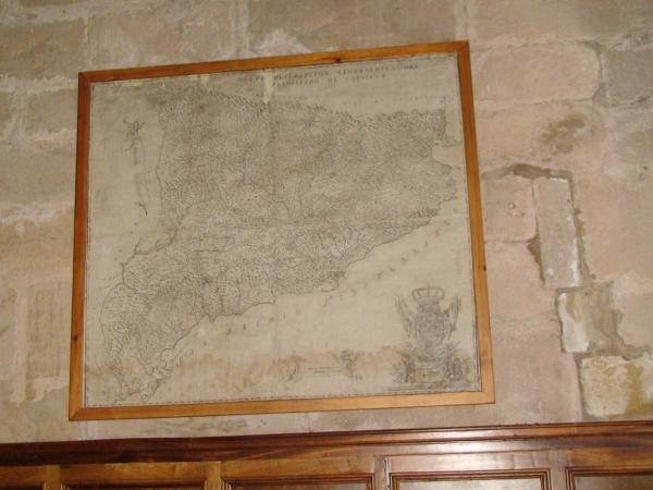 Mapa de Catalunya de 1720 del Monestir de Poblet (1/5)
