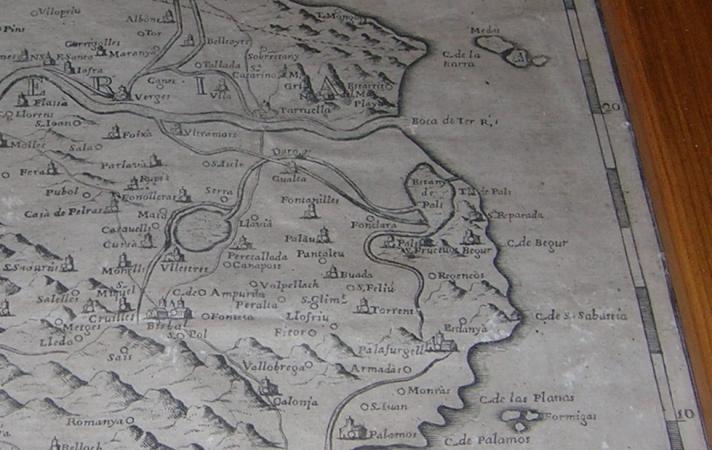Mapa de Catalunya de 1720 del Monestir de Poblet (3/5)
