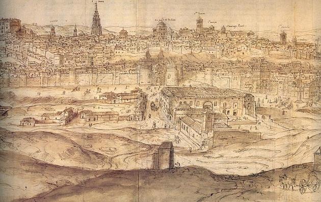 Toledo, l'any 1563. Gravat de Wyngaerden.