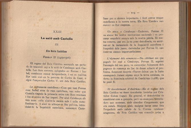 Història de Catalunya. Ferran Soldevila. Història de Catalunya. Ferran Soldevila. Pag. 102,103